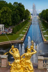 ピョートル大帝夏の宮殿の写真素材 [FYI03120960]