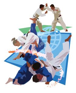 柔道世界選手権、オリンピックのイラスト素材 [FYI03121005]