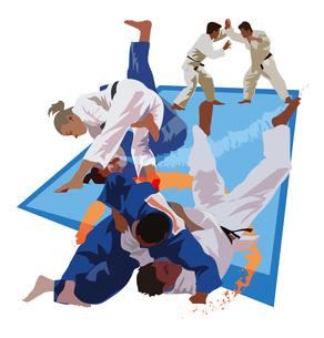 柔道世界選手権、オリンピックのイラスト素材 [FYI03121008]