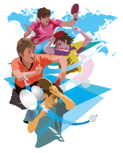 世界選手権卓球のイラスト素材 [FYI03121017]