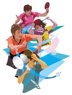 オリンピック卓球競技のイラスト素材 [FYI03121018]
