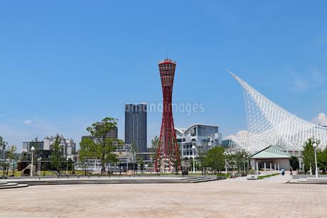 メリケンパークと神戸ポートタワーの写真素材 [FYI03121040]