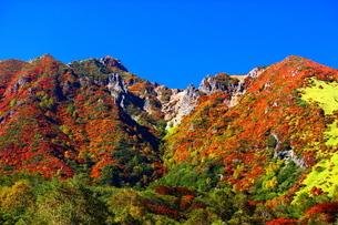 紅葉の那須朝日岳の写真素材 [FYI03121051]