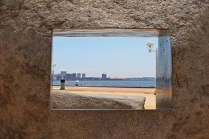 海辺のフォトフレームの写真素材 [FYI03121067]