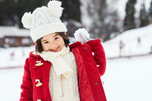 雪山の子供の写真素材 [FYI03121192]