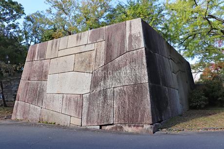 城跡に残る大きな石垣の写真素材 [FYI03121306]