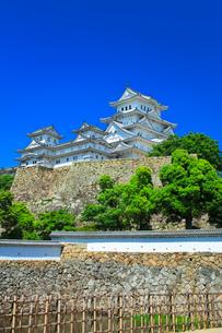 姫路城に快晴の空の写真素材 [FYI03121388]