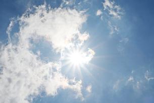 夏の青空の写真素材 [FYI03121396]
