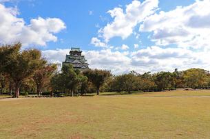 秋の大阪城公園の写真素材 [FYI03121746]