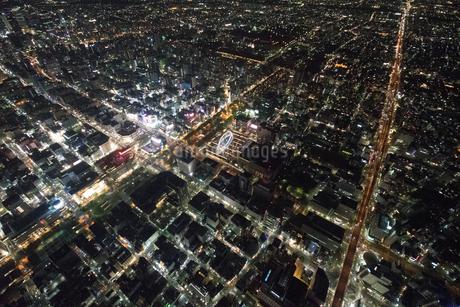 夜景空撮 高高度 名古屋栄の写真素材 [FYI03122160]