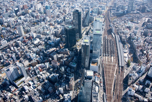 空撮 名古屋駅の写真素材 [FYI03122189]