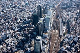 空撮 名古屋駅 撮り下ろし 俯瞰の写真素材 [FYI03122257]