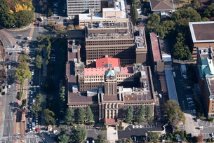 空撮 名古屋市役所 国重要文化財の写真素材 [FYI03122258]