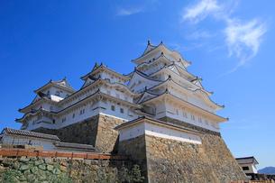 姫路城の連立天守群と青空の写真素材 [FYI03122984]