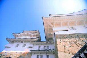 姫路城にて見上げる天守の写真素材 [FYI03123006]