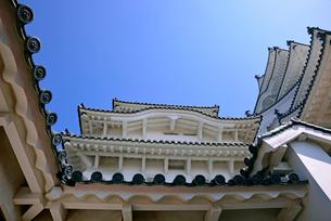 姫路城にて見上げる天守の写真素材 [FYI03123009]