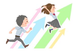 ステップアップ 夏服の学生のイラスト素材 [FYI03123082]