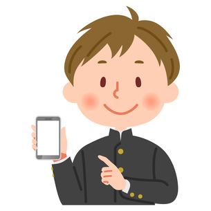 スマートフォン スマホ を持つ学生のイラスト素材 [FYI03123159]