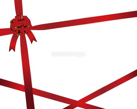 赤 リボン 背景のイラスト素材 [FYI03123810]