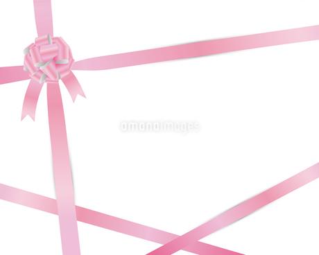ピンク リボン 背景のイラスト素材 [FYI03123811]