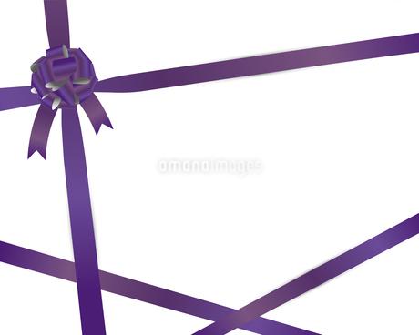 紫 リボン 背景のイラスト素材 [FYI03123840]