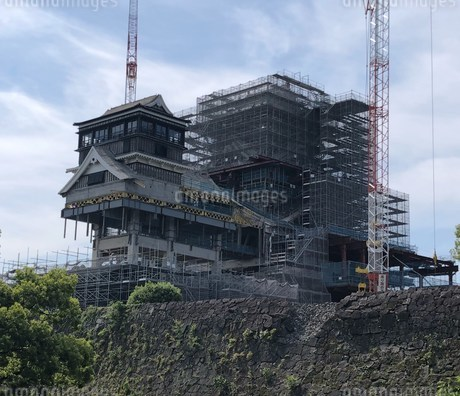 修復中の熊本城の写真素材 [FYI03124322]