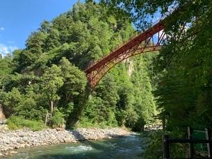 赤い橋の写真素材 [FYI03124443]