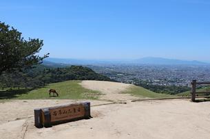 若草山三重目からの眺めの写真素材 [FYI03124477]
