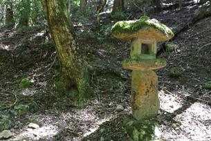 山の古灯籠の写真素材 [FYI03124745]