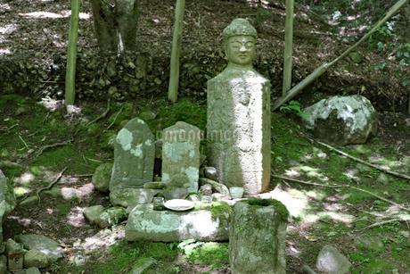 山の石仏の写真素材 [FYI03124747]
