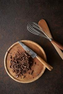刻んだチョコレートの写真素材 [FYI03124909]