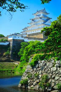 姫路城天守と堀の写真素材 [FYI03125465]