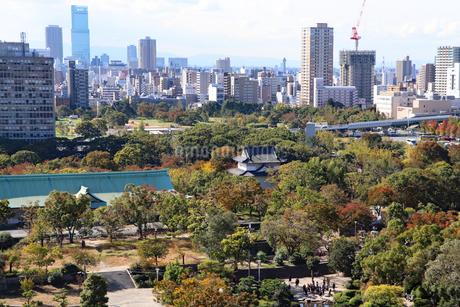 大阪城公園と大阪の街の写真素材 [FYI03125472]