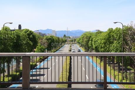 車がまばらに走る道路の写真素材 [FYI03125832]