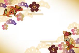 子年 和柄 年賀状 背景のイラスト素材 [FYI03126095]