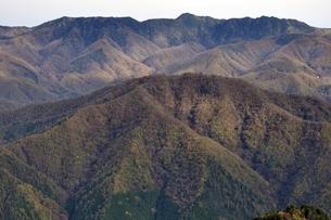 紅葉の山並み 鶏冠山からの眺望の写真素材 [FYI03126690]