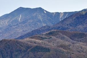 鶏冠山から破風山の展望の写真素材 [FYI03126693]