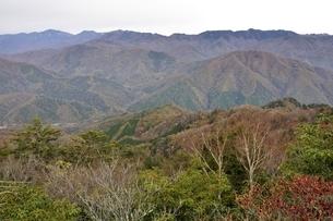 紅葉の山並み 鶏冠山からの眺望の写真素材 [FYI03126702]