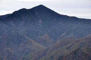 鶏冠山より望む日本百名山の大菩薩嶺の写真素材 [FYI03126719]