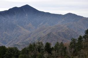 鶏冠山より望む日本百名山の大菩薩嶺の写真素材 [FYI03126720]
