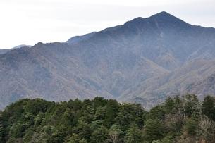 鶏冠山より望む日本百名山の大菩薩嶺の写真素材 [FYI03126721]