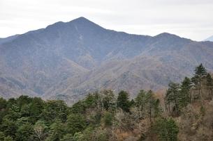 鶏冠山から望む大菩薩嶺の写真素材 [FYI03126729]