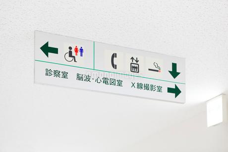 病院内の案内板の写真素材 [FYI03126852]