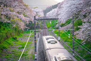 春の山北駅(神奈川県足柄上郡)の写真素材 [FYI03126967]