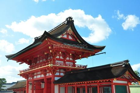 青空と楼門の写真素材 [FYI03127505]