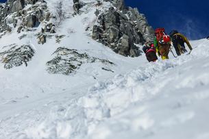 八丁坂を登る登山者の写真素材 [FYI03127710]