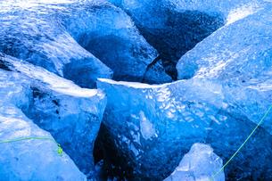 アイスランド・氷の洞窟(ヴァトナヨークトル)の写真素材 [FYI03128049]