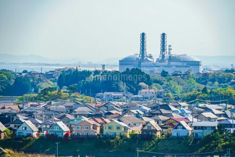 宮城県・七ヶ浜町から見える仙台港の写真素材 [FYI03128108]