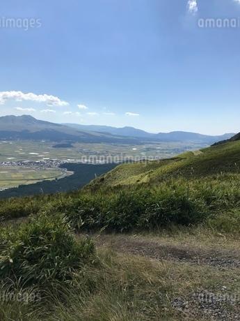盆地 山 空の写真素材 [FYI03128135]