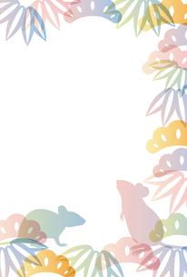 子年 和柄 年賀状 背景のイラスト素材 [FYI03128289]